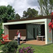 Maison bois de rose bungalow 16.m²